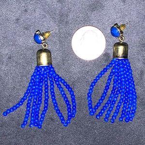 🌻 Sugarfix by BaubleBar blue tassel earrings